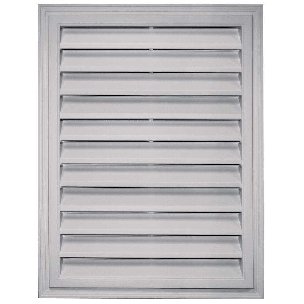 Builders Edge 18 In X 24 In Rectangular Gable Vent In