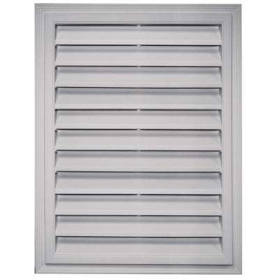 18 in. x 24 in. Rectangular Gable Vent in Paintable