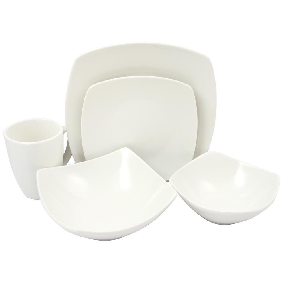 Gibson Buffetware White Dinnerware Set (30-Piece)  sc 1 st  The Home Depot & Gibson Buffetware White Dinnerware Set (30-Piece)-985100534M - The ...