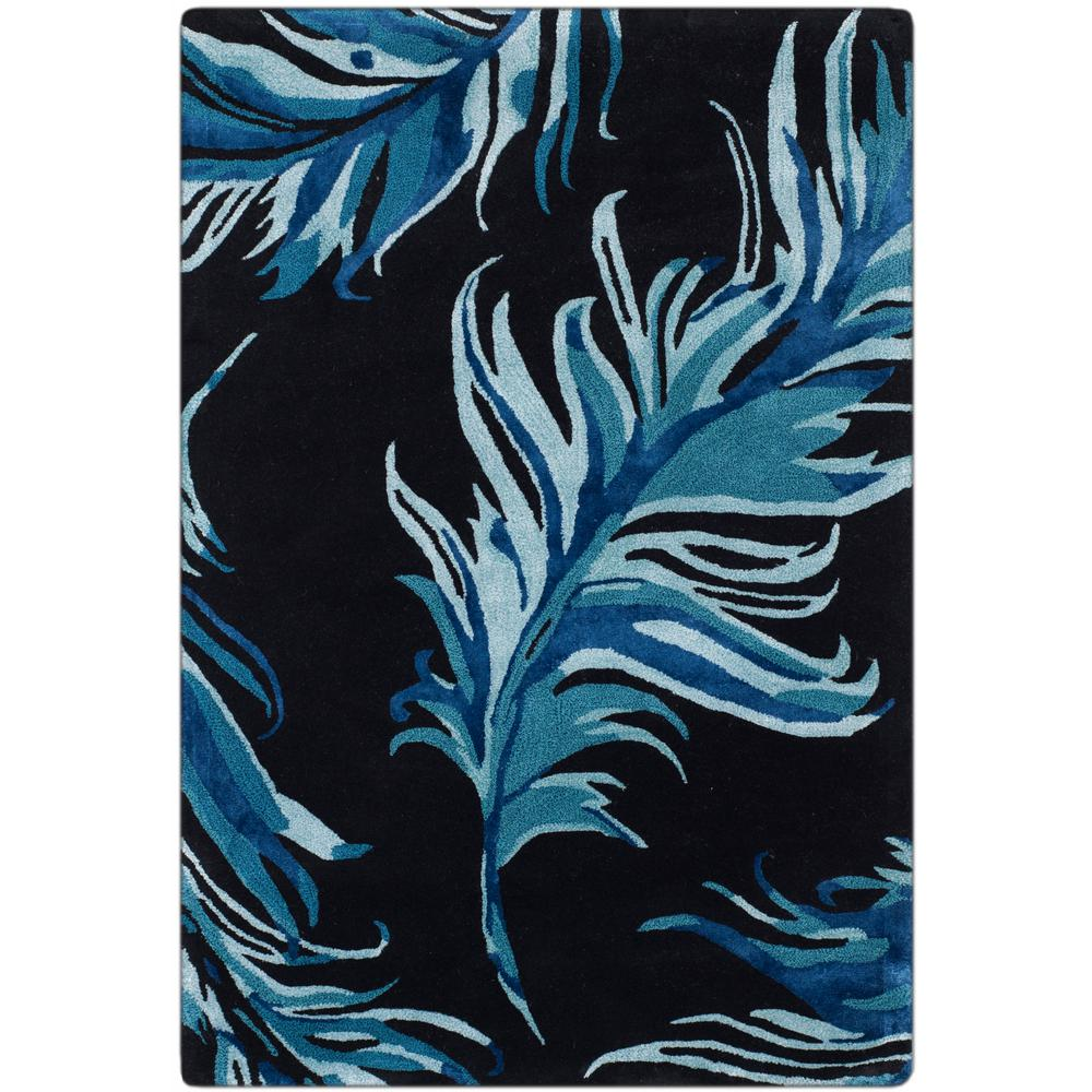 Safavieh Allure Black Blue 4 Ft X 6 Ft Area Rug Alr121b 4 The