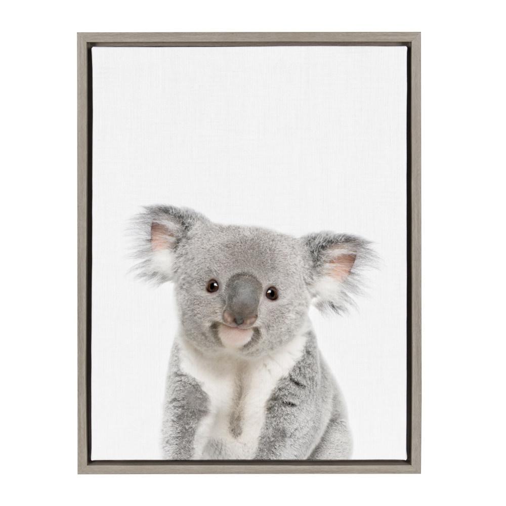 "Sylvie ""Animal Studio Koala"" by Amy Peterson Framed Canvas Wall Art"
