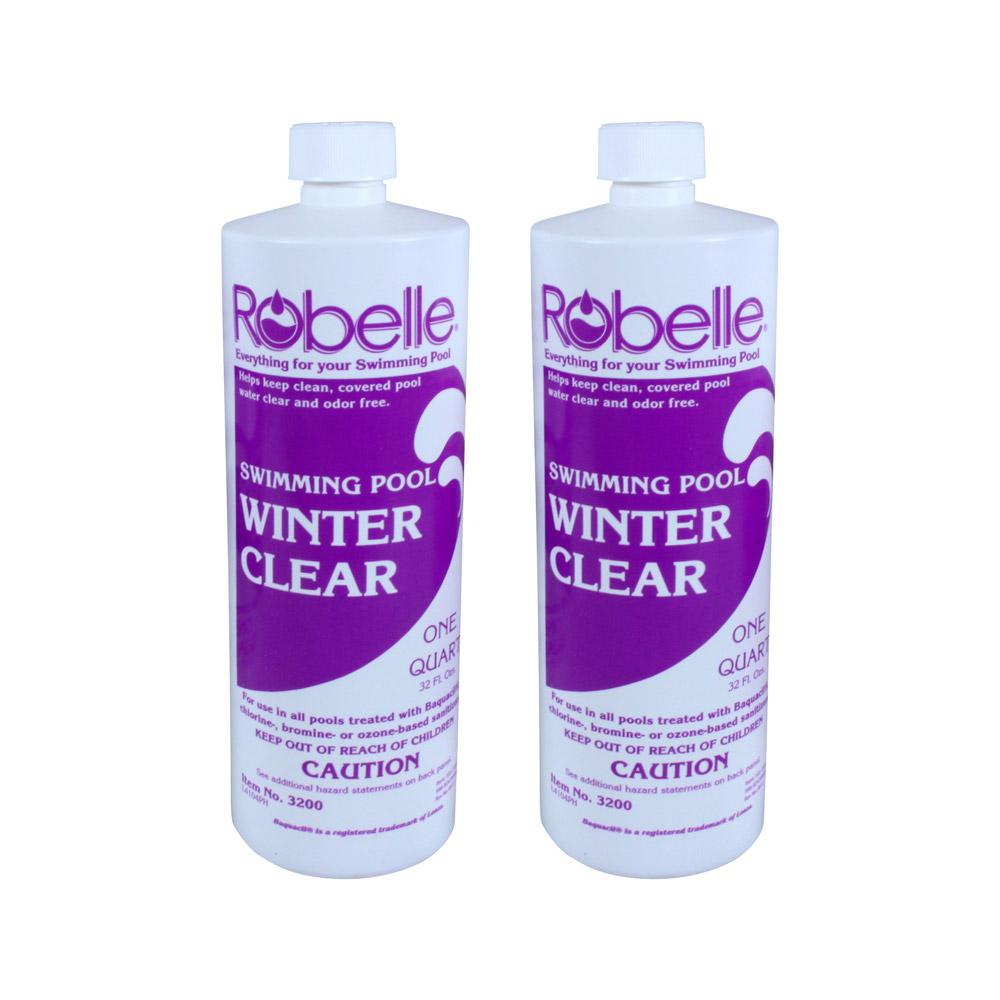 Robelle 1 Qt Swimming Pool Clarifier Winter Clear 2 Pack 3200 02 The Home Depot