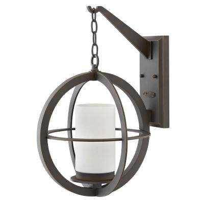 Compass Large 1-Light Oil Rubbed Bronze Outdoor Wall Lantern