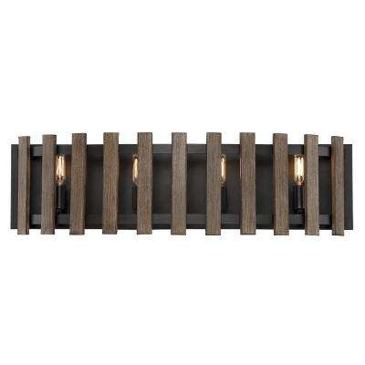 4-Light Sapele Bath Light
