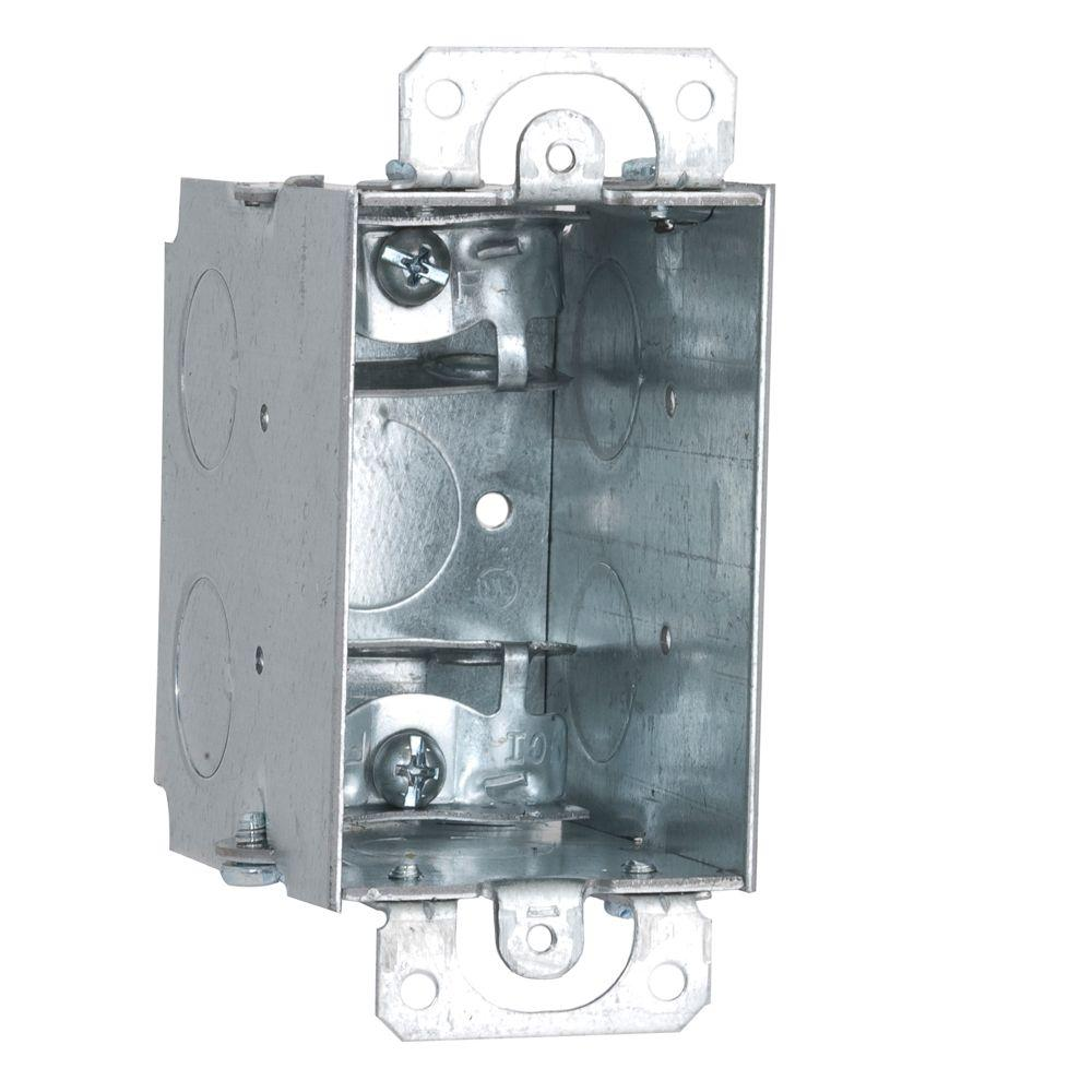 2-1/2 in. Deep Gangable Switch Box with Armored Cable/Metal Clad/Flex Clamps