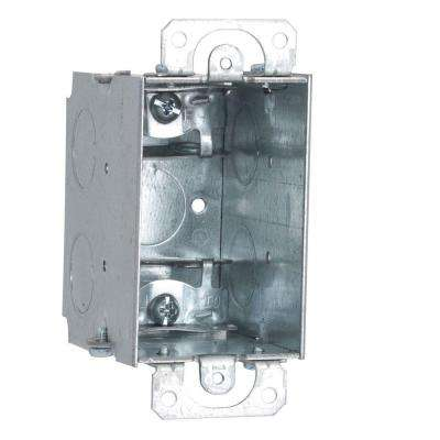 2-1/2 in. Deep Gangable Switch Box with Armored Cable/Metal Clad/Flex Clamps and Plaster Ears (50-Pack)