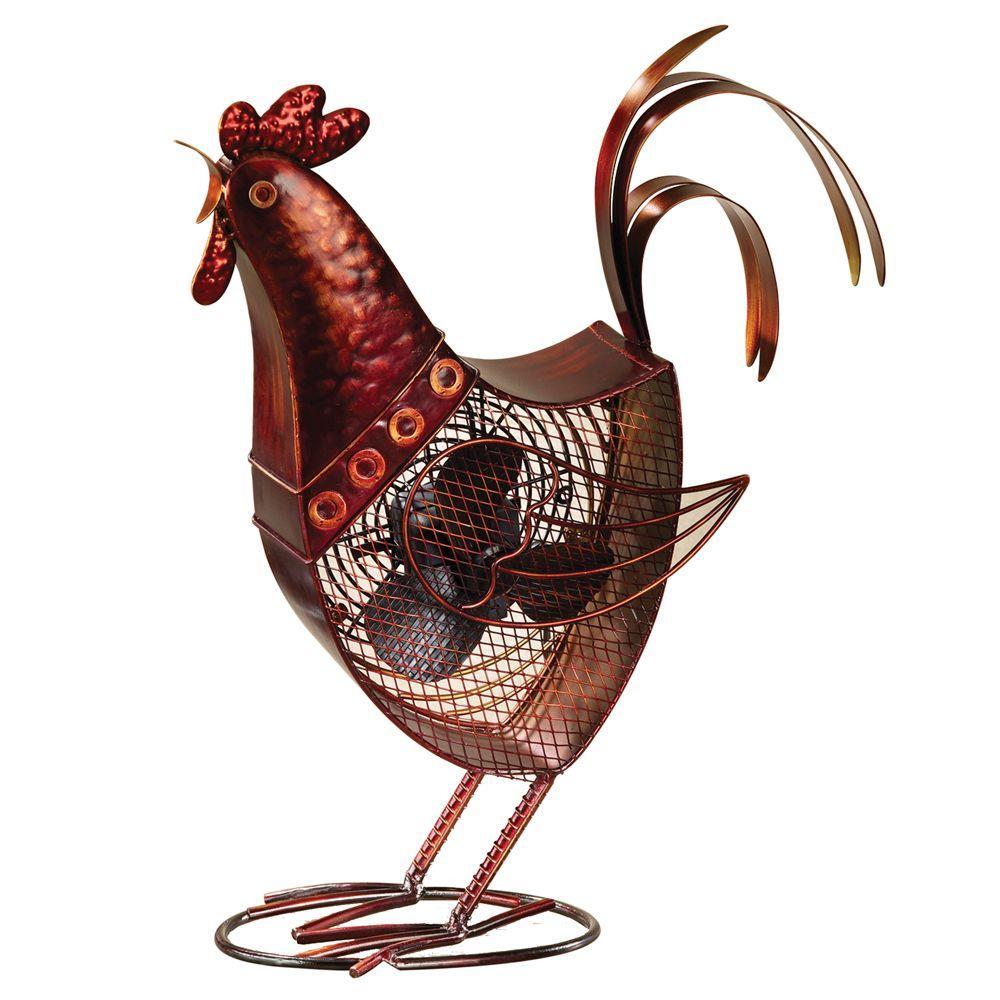 7 in. Figurine Fan-Rooster