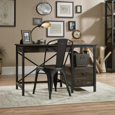 Steel River Carbon Oak Desk