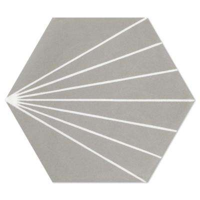 Spark C Winter (PS) 7-7/8 in. x 7-7/8 in. Cement Handmade Floor and Wall Tile