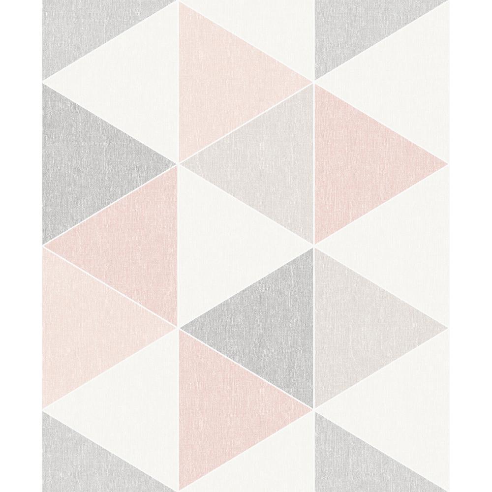 Scandi Triangle Pink Wallpaper