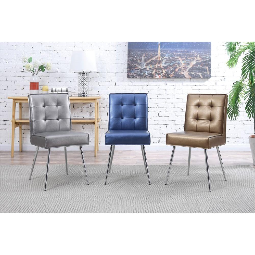 ave six amity sizzle azure fabric tufted dining chair