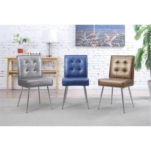 Amity Sizzle Azure Fabric Tufted Dining Chair