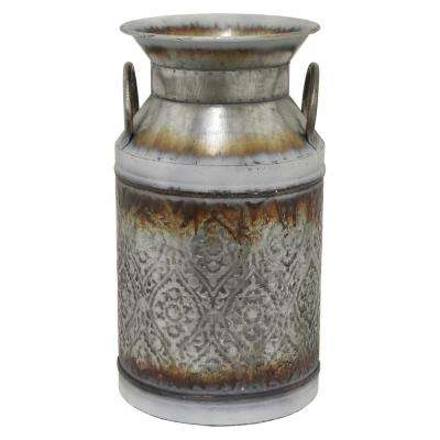 14.25 in. Gray Galvanized Jug