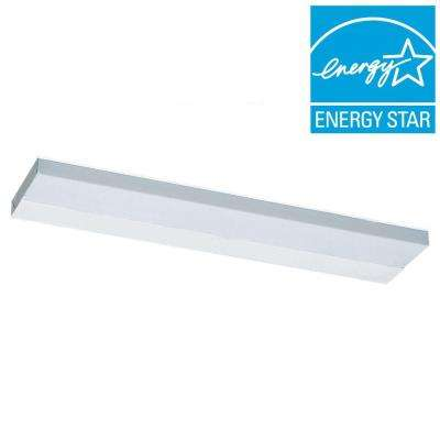 Undercabinet 1-Light White Fluorescent Task Light Fixture