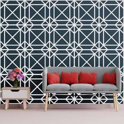 3/8 in. x 23-3/4 in. x 23-3/4 in. Large Buxton White Architectural Grade PVC Decorative Wall Panels