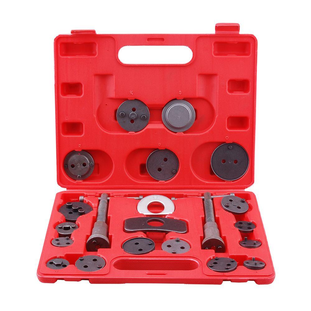 SPEEDWAY Universal Disc Brake Caliper Piston Pad Auto Car Wind Back Tool  Kit with Case (21-Piece)