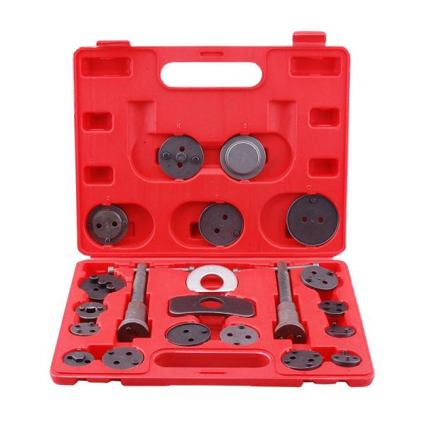 Universal Disc Brake Caliper Piston Pad Auto Car Wind Back Tool Kit with Case (21-Piece)