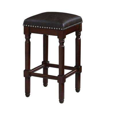 Wexley 26 in. Dark Cherry Backless Counter Stool