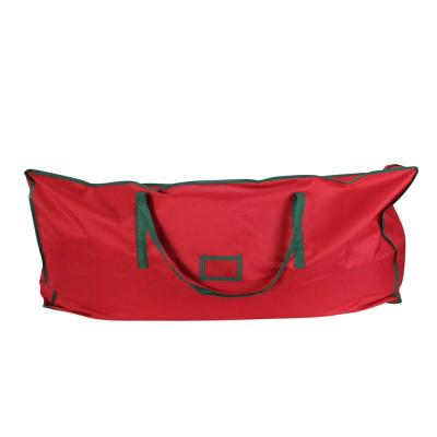 43 in. Red and Green Multi-purpose Polyester Christmas Storage Bag