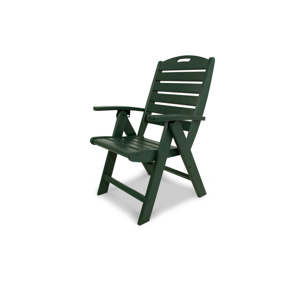 Trex Outdoor Furniture Yacht Club Rainforest Canopy Highback Patio Folding Chair