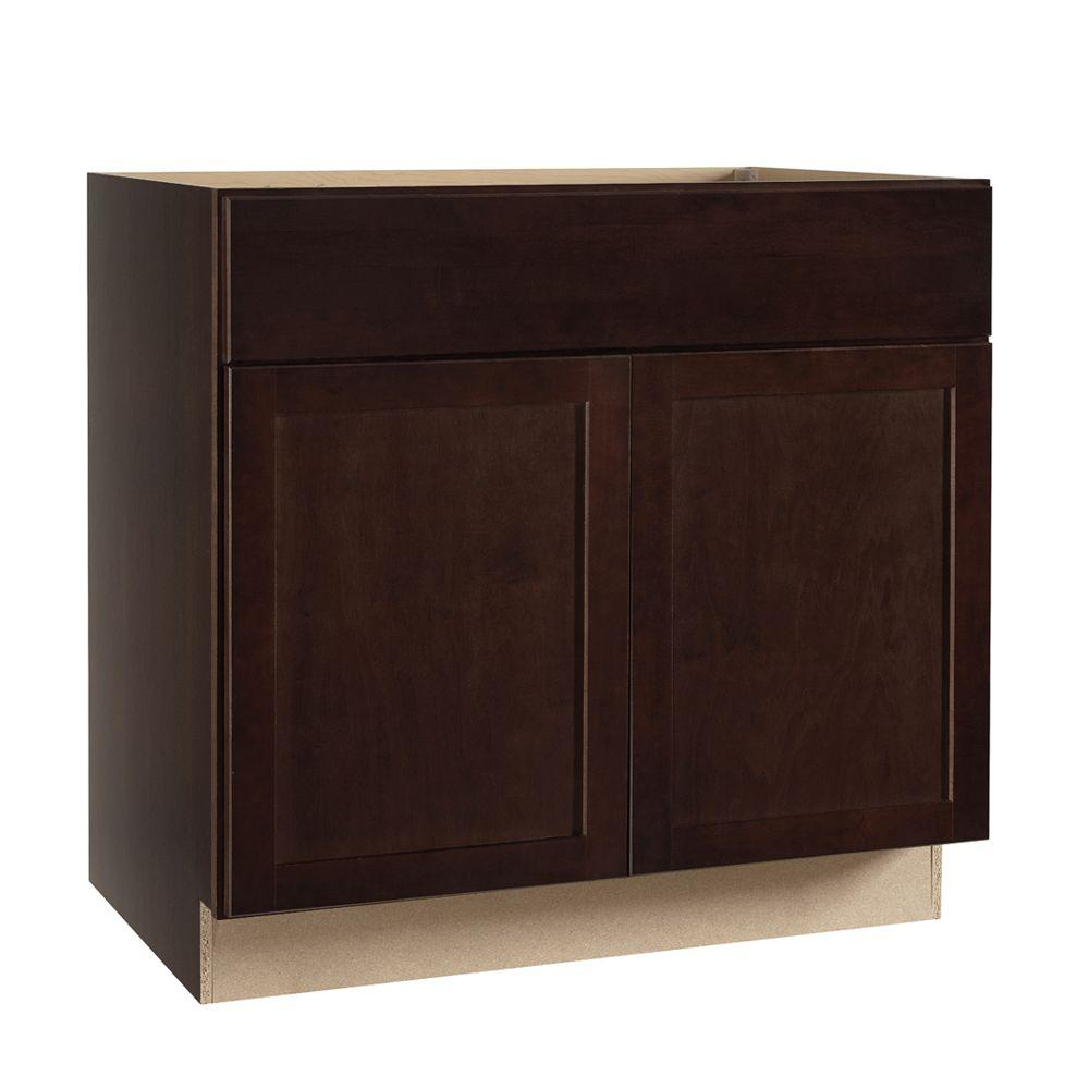 kitchen cabinet glides hampton bay shaker assembled 36x34 5x24 in base kitchen 18816