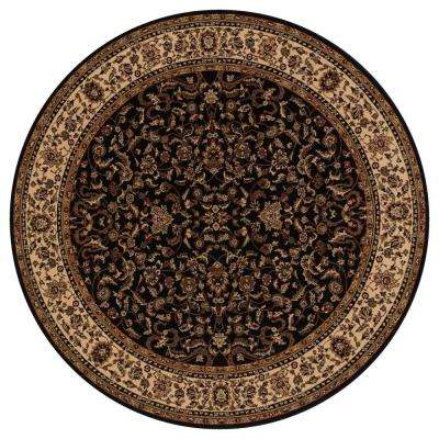 Persian Classics Kashan Black 7 ft. 10 in. Round Area Rug