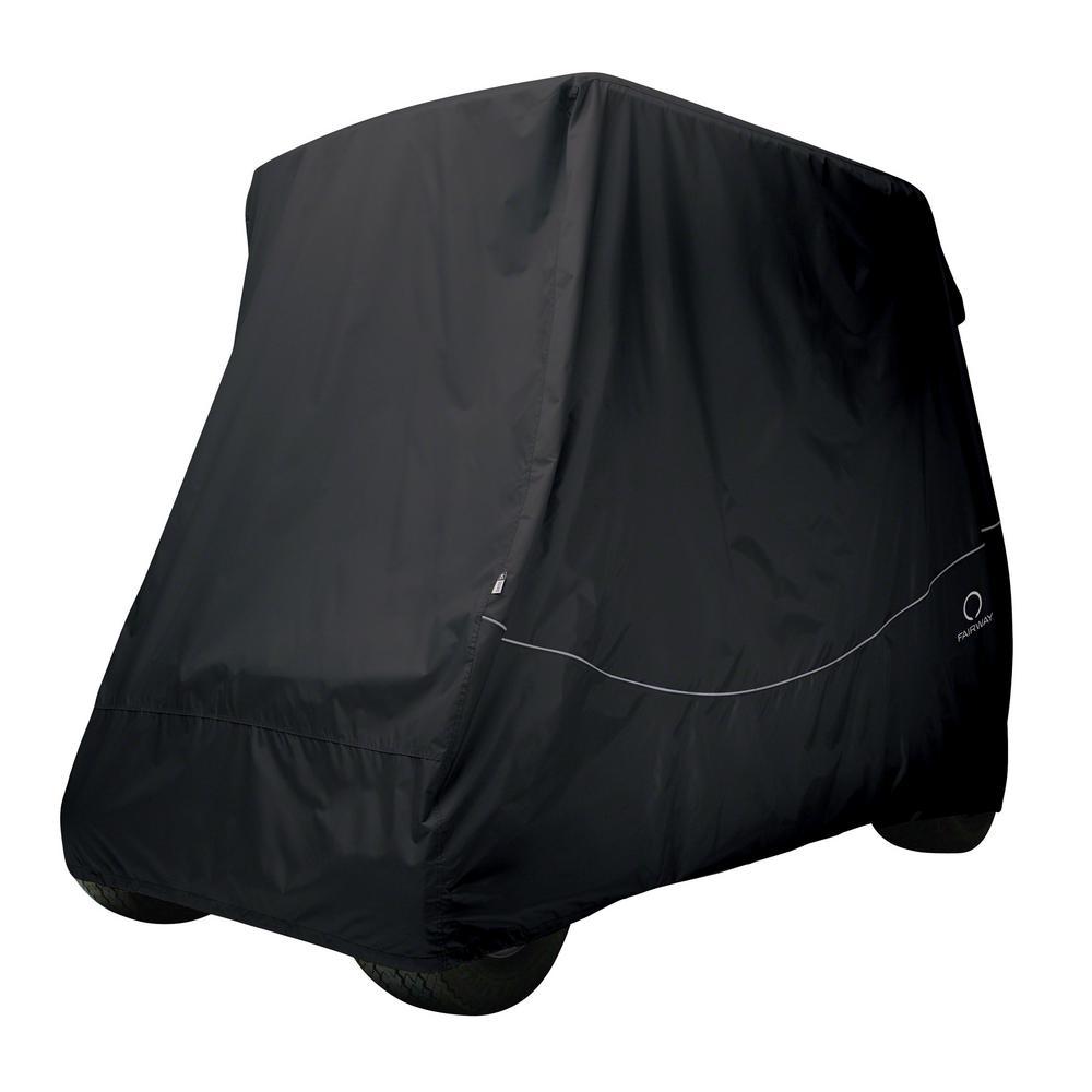 Fairway Short Roof Golf Car Quick-Fit Cover Black