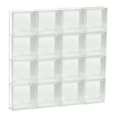 31 in. x 31 in. x 3.125 in. Frameless Non-Vented Clear Glass Block Window