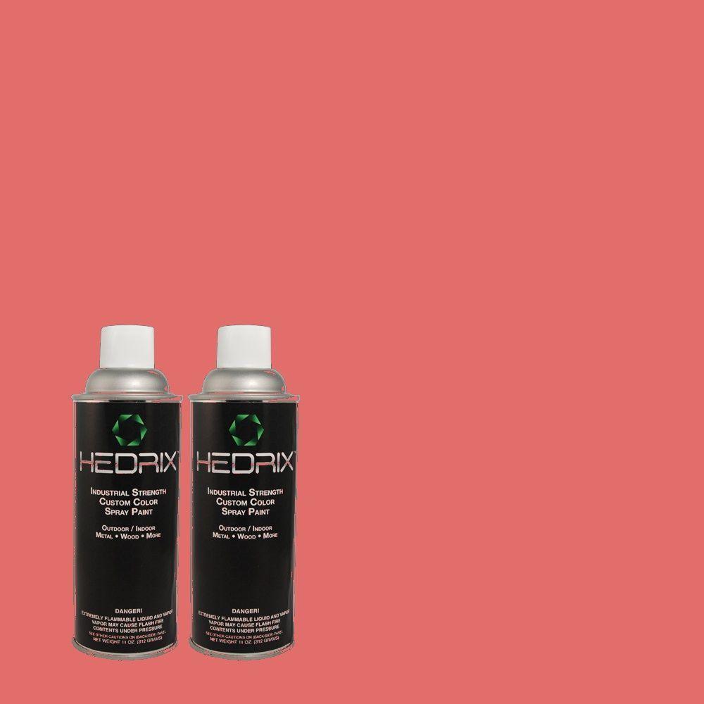 Hedrix 11 oz. Match of 1B28-6 Melody Pink Gloss Custom Spray Paint (2-Pack)