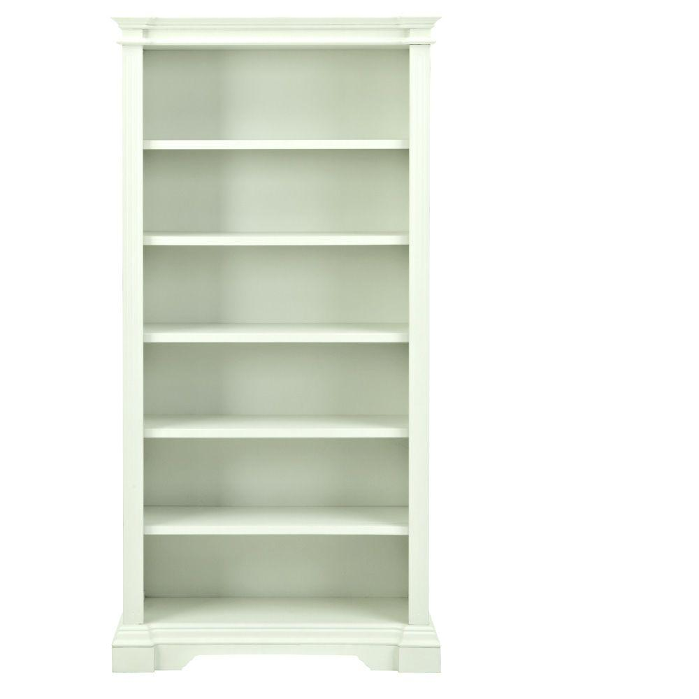 Home decorators collection bufford rubbed ivory open for Home decorators bookcase