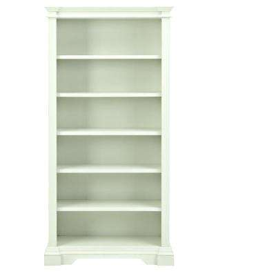 Bufford Rubbed Ivory Open Bookcase