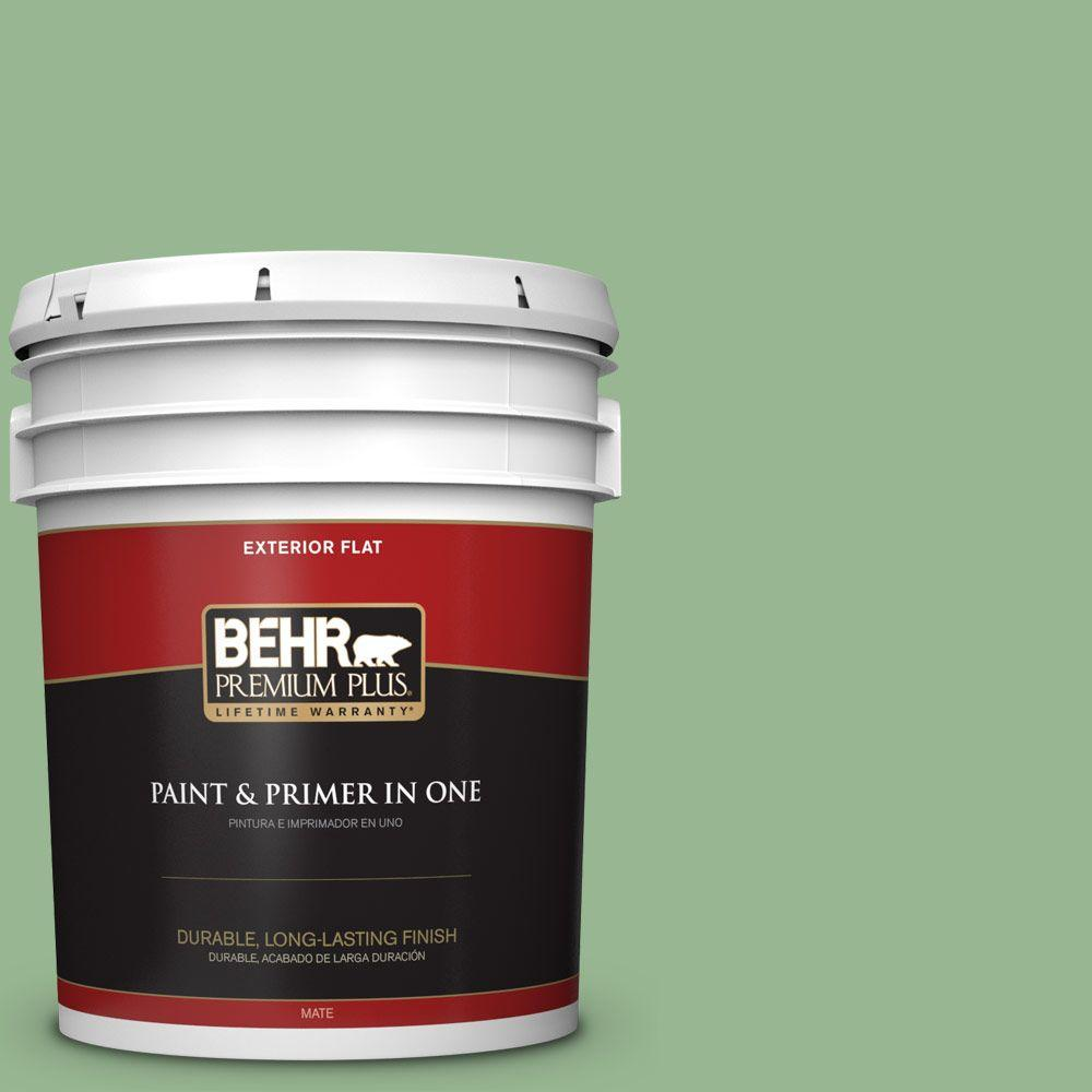 BEHR Premium Plus 5-gal. #M400-4 Brookview Flat Exterior Paint