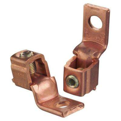 Copper Mechanical Connector 3/0 Stranded to #4 Stranded with Single Hole Mount (10 Pieces)