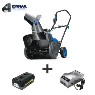 15 in. 40-Volt Single-Stage Cordless Electric Snow Blower Kit with 2.5 Ah Battery + Charger