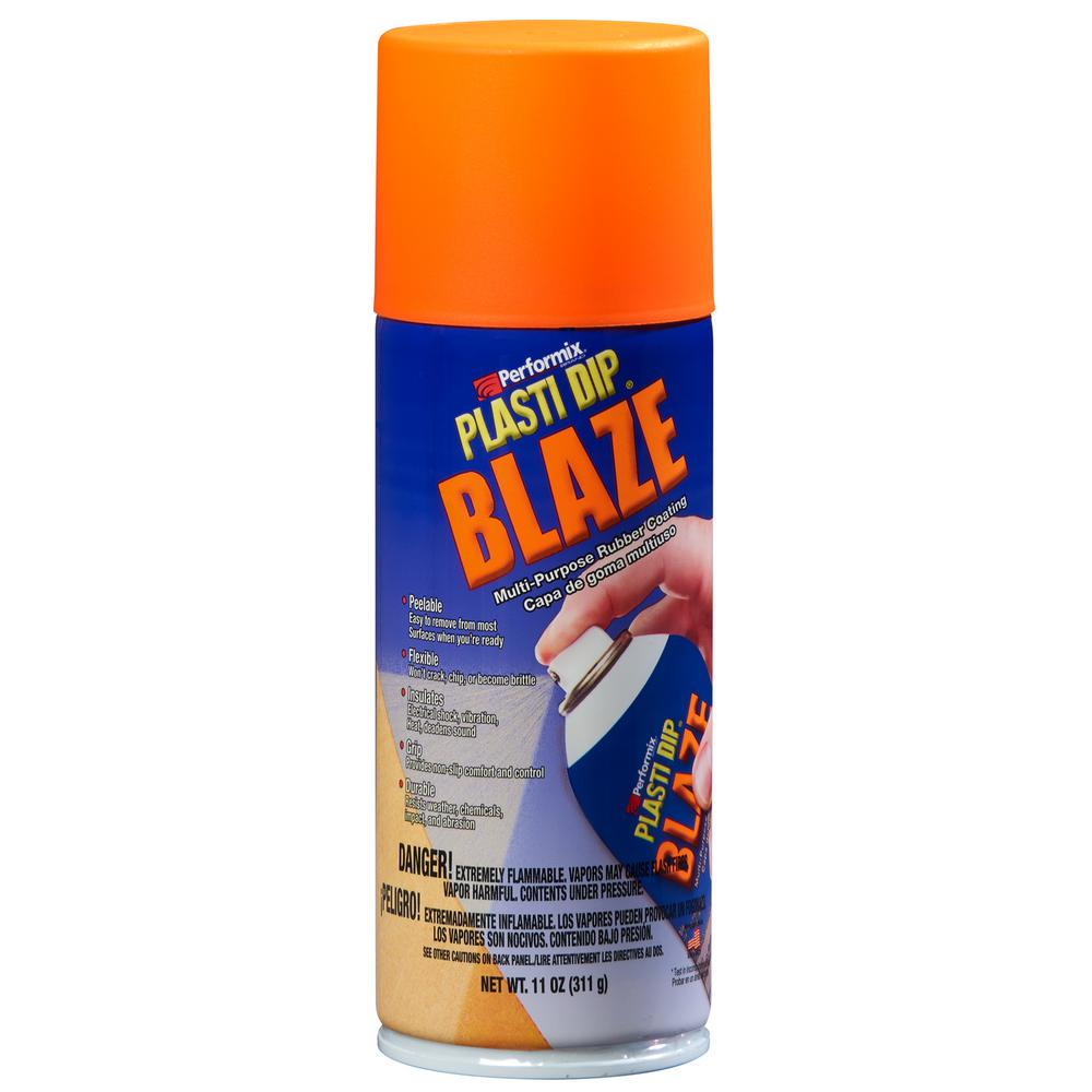 11 oz. Blaze Orange Plasti Dip, Blaze Orange/Matte