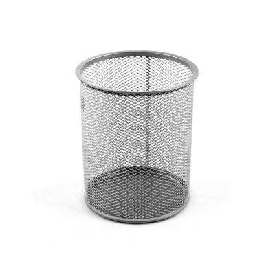 Mesh Giant Pencil Cup, Silver