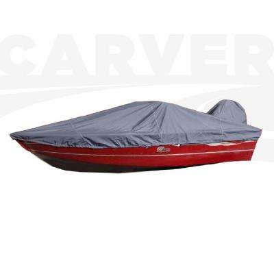 Styled-To-Fit Boat Cover For Aluminum V-Hull Fishing Boats with Walk-Thru Windshield, Centerline