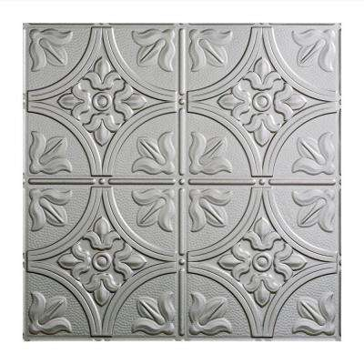 Traditional 2 - 2 ft. x 2 ft. Argent Silver Lay-in Ceiling Tile