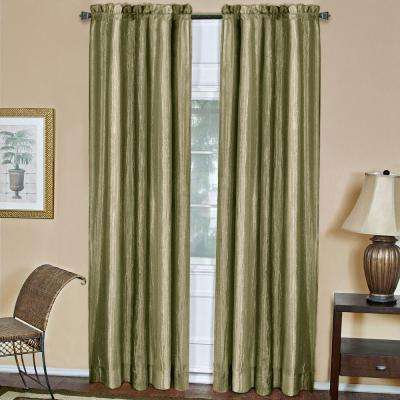 Semi-Opaque Ombre Sage Polyester Curtain Panel - 50 in. W x 84 in. L