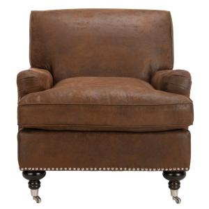 Excellent Safavieh Chloe Brown Espresso Faux Leather Club Arm Chair Short Links Chair Design For Home Short Linksinfo