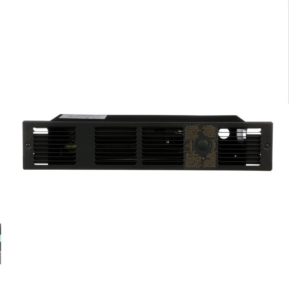 Perfectoe 500-Watt 120-Volt 1707-BTU Under-Cabinet Fan Forced Electric Heater in Black