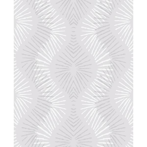 A-Street 8 in. x 10 in. Feliz Silver Beaded Ogee Wallpaper