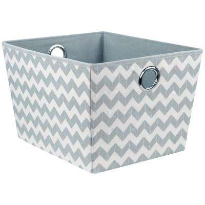 14.5 in. W x 10 in. H Grey Chevron Storage Bin