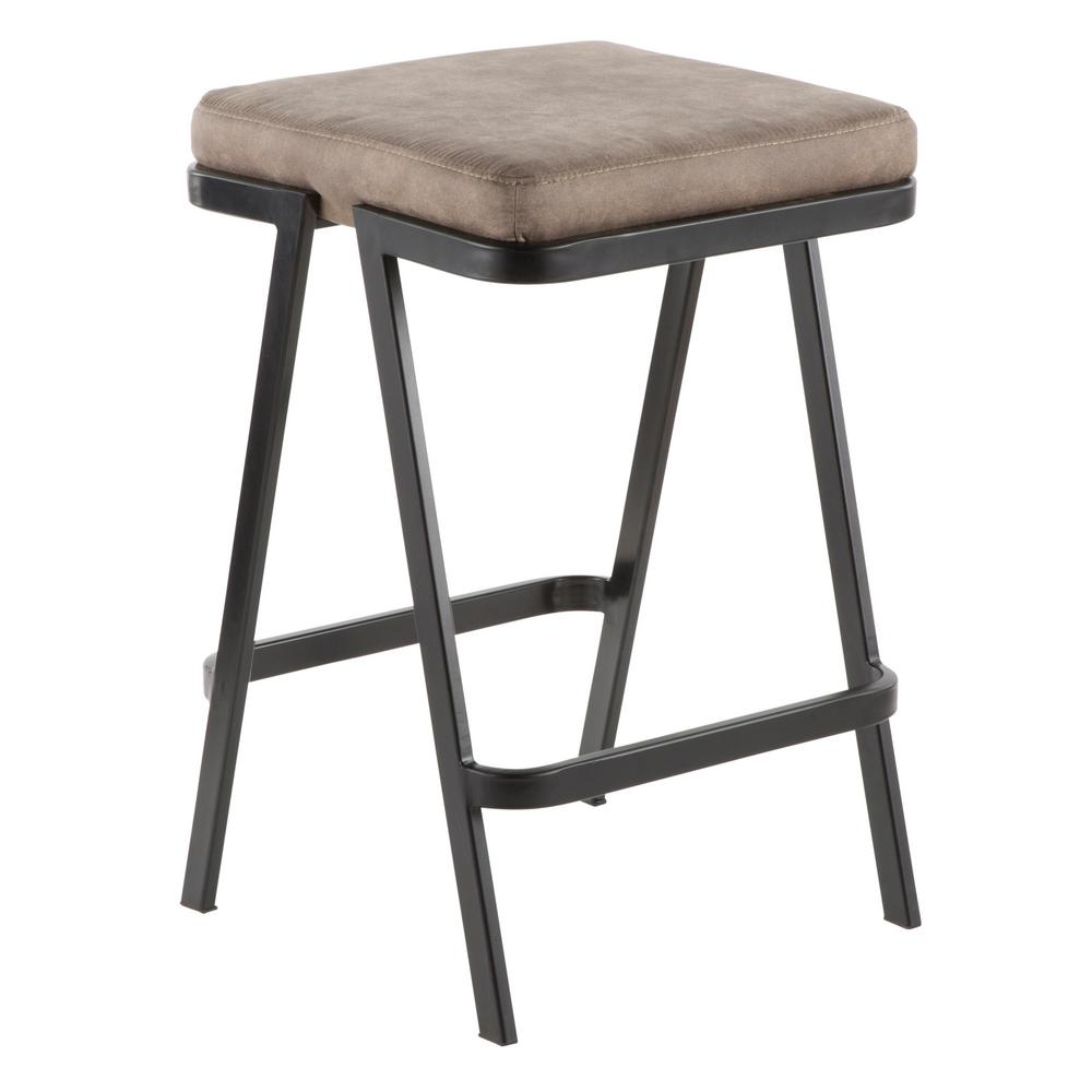 Lumisource Seven 25 In Backless Counter Stool With Stone Cowboy