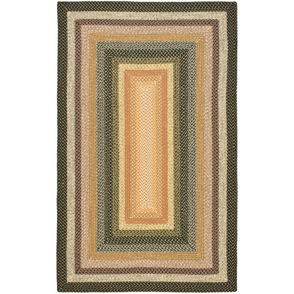 Braided Blue/Multi 4 ft. x 6 ft. Area Rug