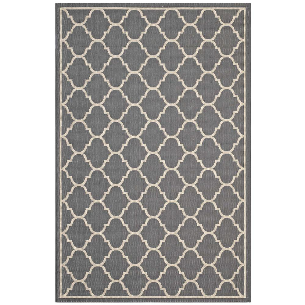 Modway Avena In Gray And Beige 8 Ft X 10 Ft Moroccan Quatrefoil