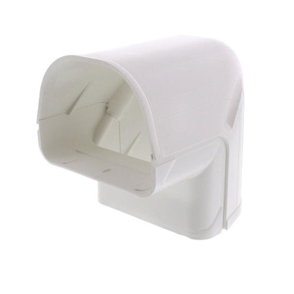 Fortress LC092W 90 Outside Vertical Elbow for Ductless Mini Split Cover