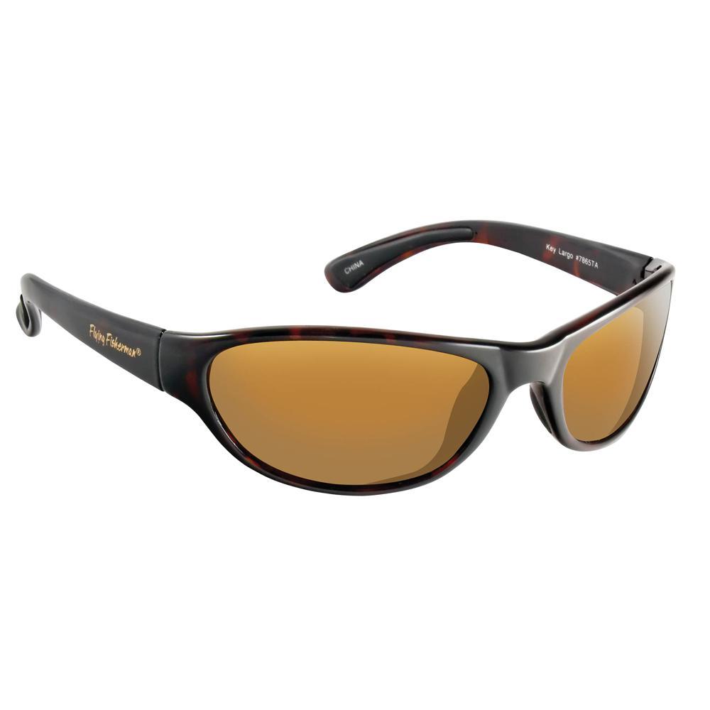 b7e1e2fc3a Flying Fisherman. Key Largo Polarized Sunglasses Tortoise Frame with Amber  Lens