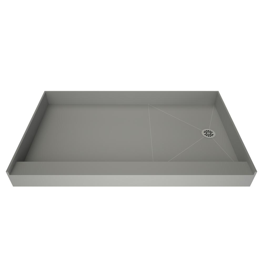 Ordinaire Redi Base 30 In. X 48 In. Single Threshold Shower Base In Grey With