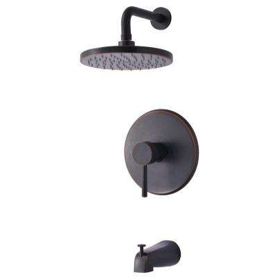 Euro Collection Single-Handle 1-Spray Tub and Shower Faucet in Oil-Rubbed Bronze (Valve Included)